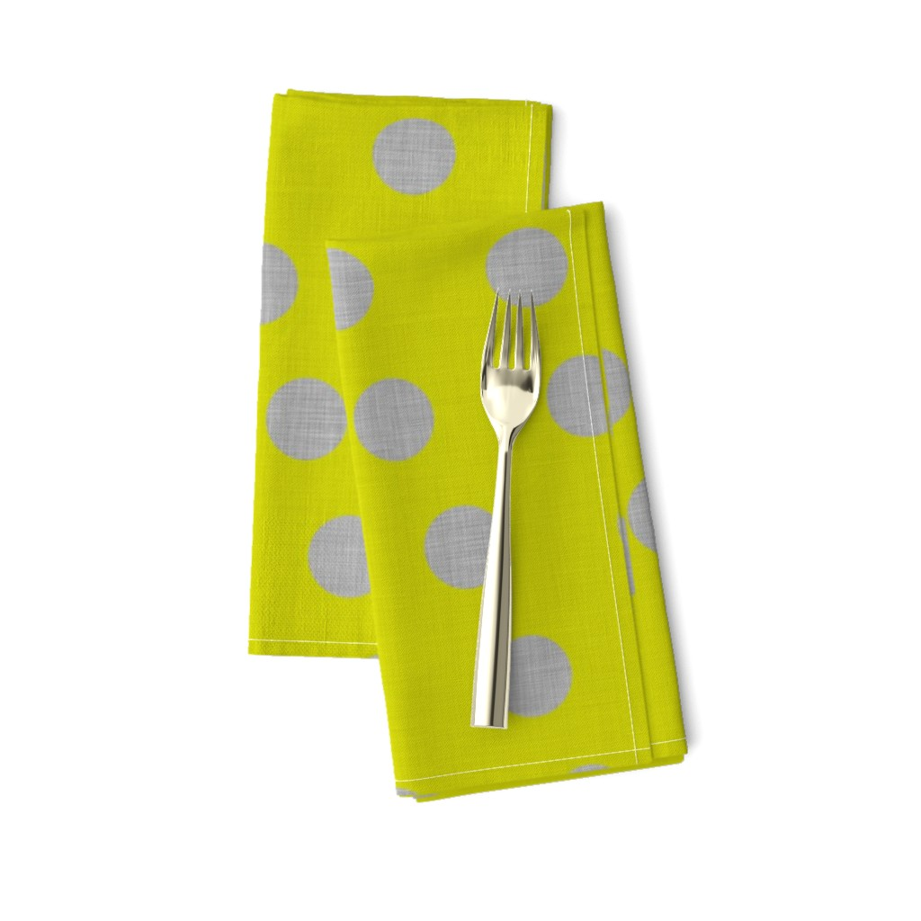 Amarela Dinner Napkins featuring Lacewing Polka in Yellow by spellstone