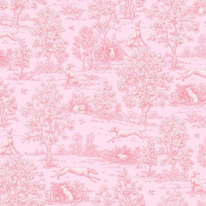 Original Light Pink Reverse Greyhound Toile ©2010 by Jane Walker