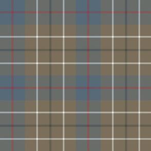 """Duncan tartan, 9"""" ancient weathered"""