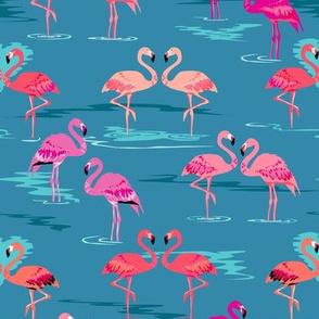 flamingos love teal