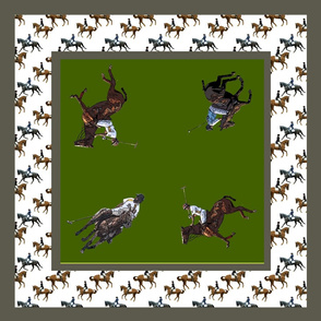 Carriage Trade Polo Scarf in Olive
