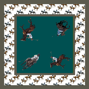 Carriage Trade Polo Scarf in Teal