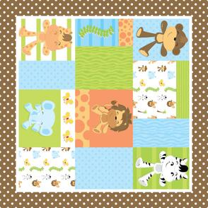 Jungle Quilt Panel