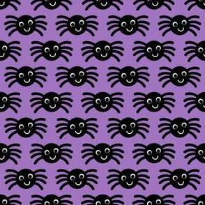 Purple Smiley Spiders