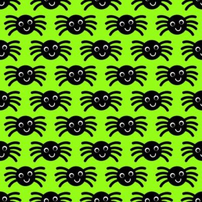 Green Smiley Spiders