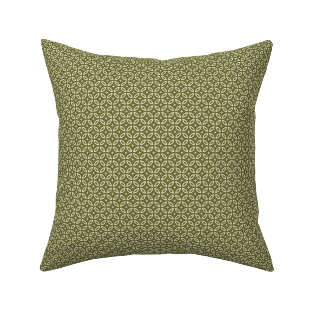 Catalan Throw Pillow featuring Milano olive by arboreal