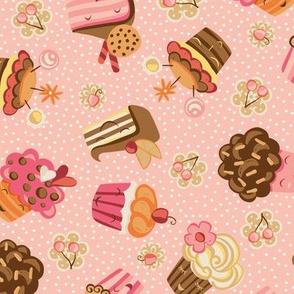 Retro Pink cupcakes