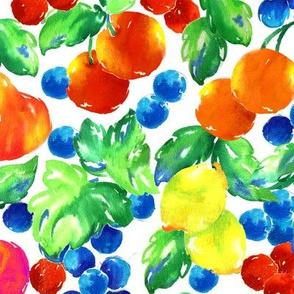 Fresh Fruit/Watercolor