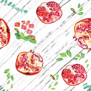 Pomegranate and bees
