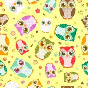 Colorful Mixed Owls
