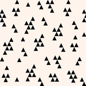 simple triangle // cream and black kids baby nursery simple triangles