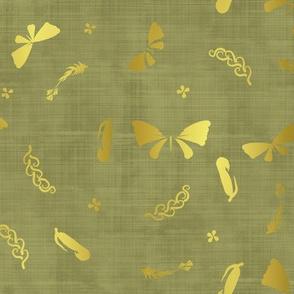 Doux papillons d'or jungle