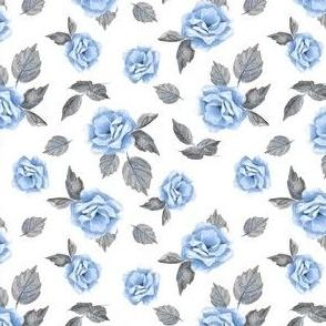 Floral pattern. Blue flowers