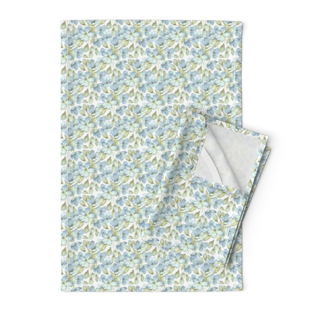 Orpington Tea Towels featuring Delicate flowers by gribanessa