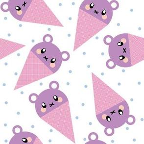 Purple Ice Cream Bear