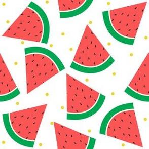 Vibrant Watermelon with Yellow confetti