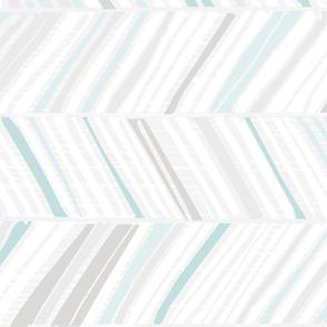 Herringbone Hues Horizontal M+M Aqua by Friztin