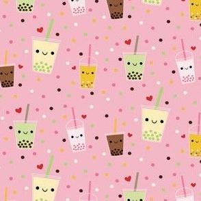 Happy Boba Bubble Tea - Pink