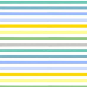 Freshly Squeezed Lemonade Stripes - Horizontal