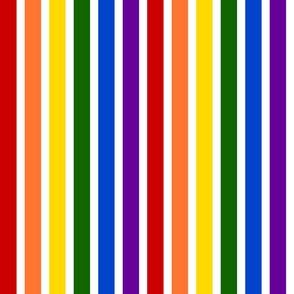 Rainbow Stripes - Bright Colors
