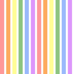 Rainbow Stripes - Pastels
