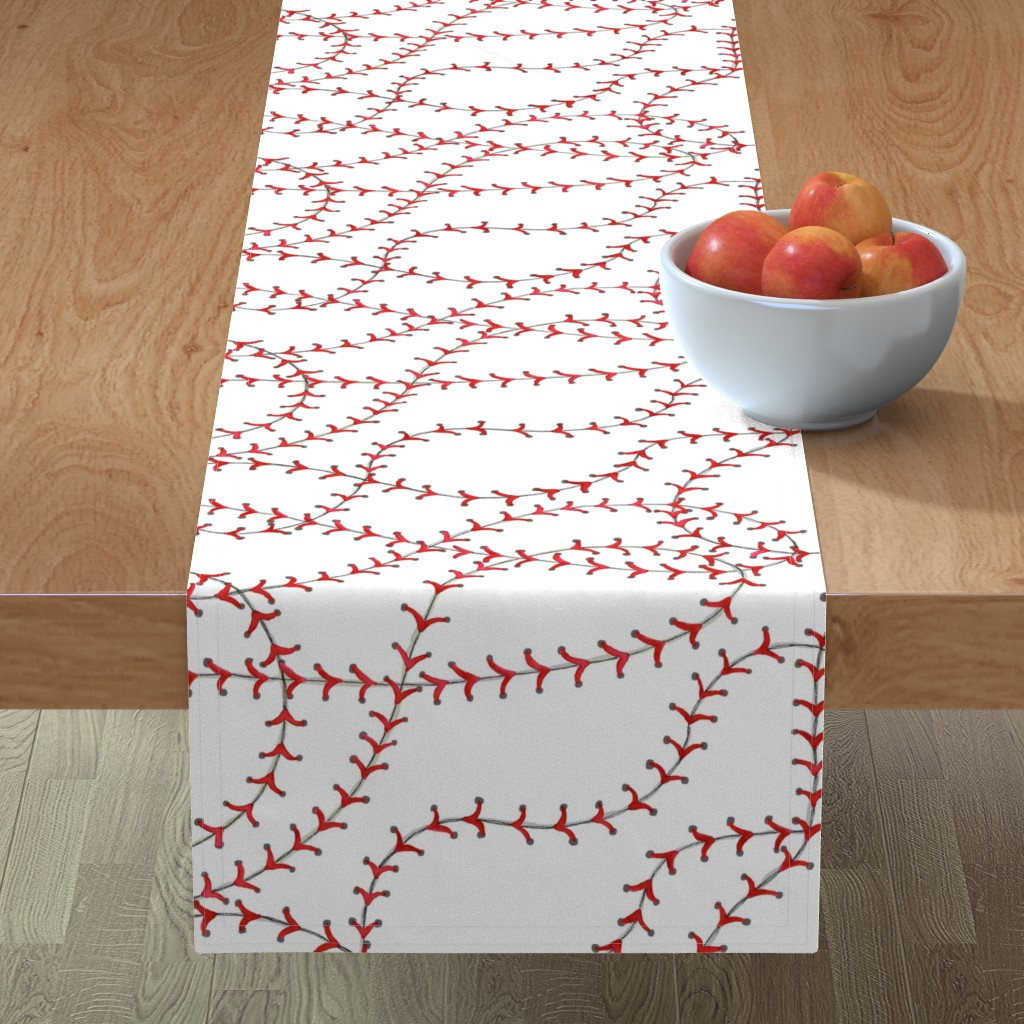 Minorca Table Runner featuring Baseball Seams by c_manning