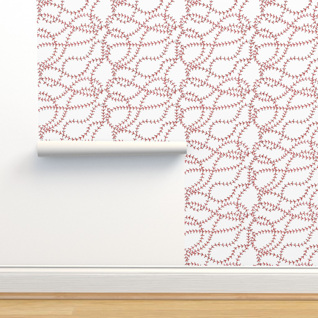 Isobar Durable Wallpaper featuring Baseball Seams by c_manning