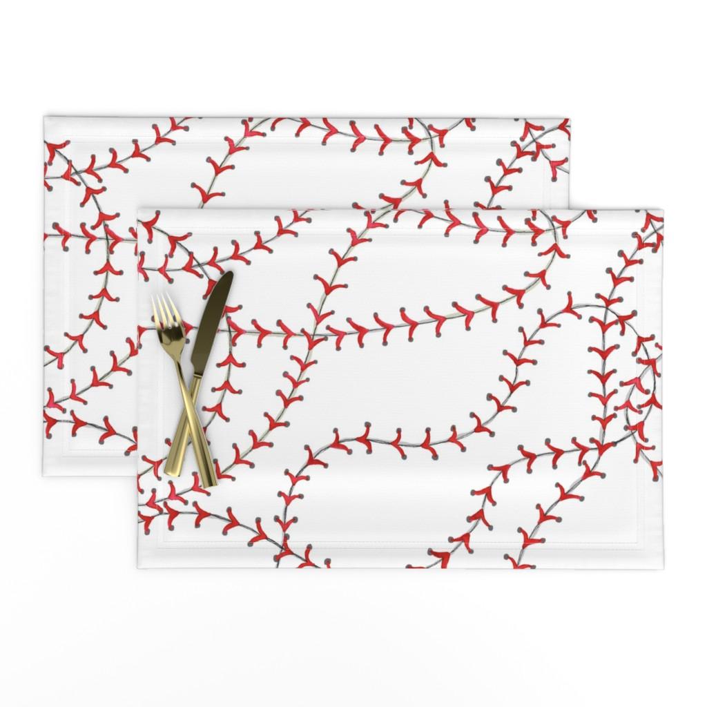 Lamona Cloth Placemats featuring Baseball Seams by c_manning
