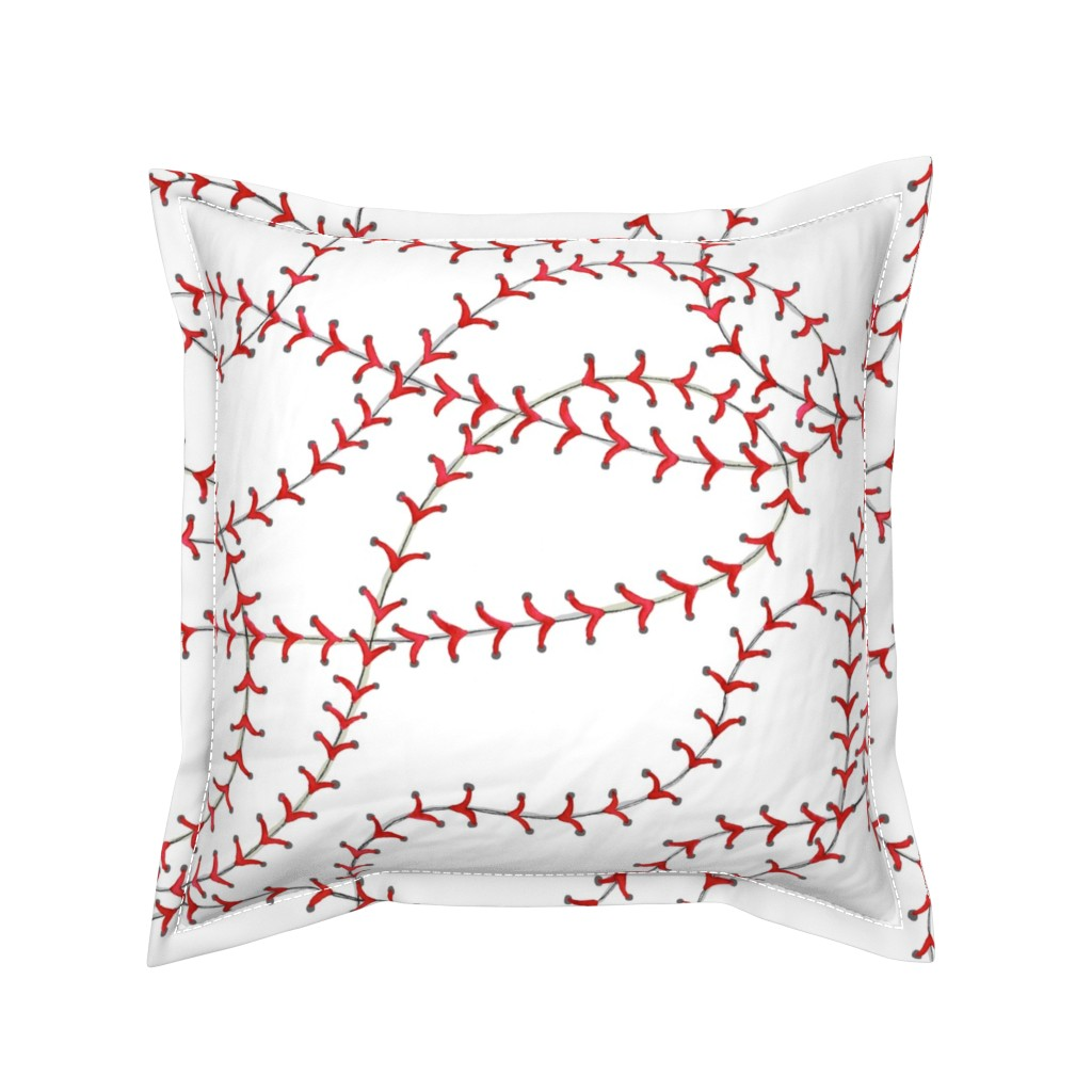 Serama Throw Pillow featuring Baseball Seams by c_manning