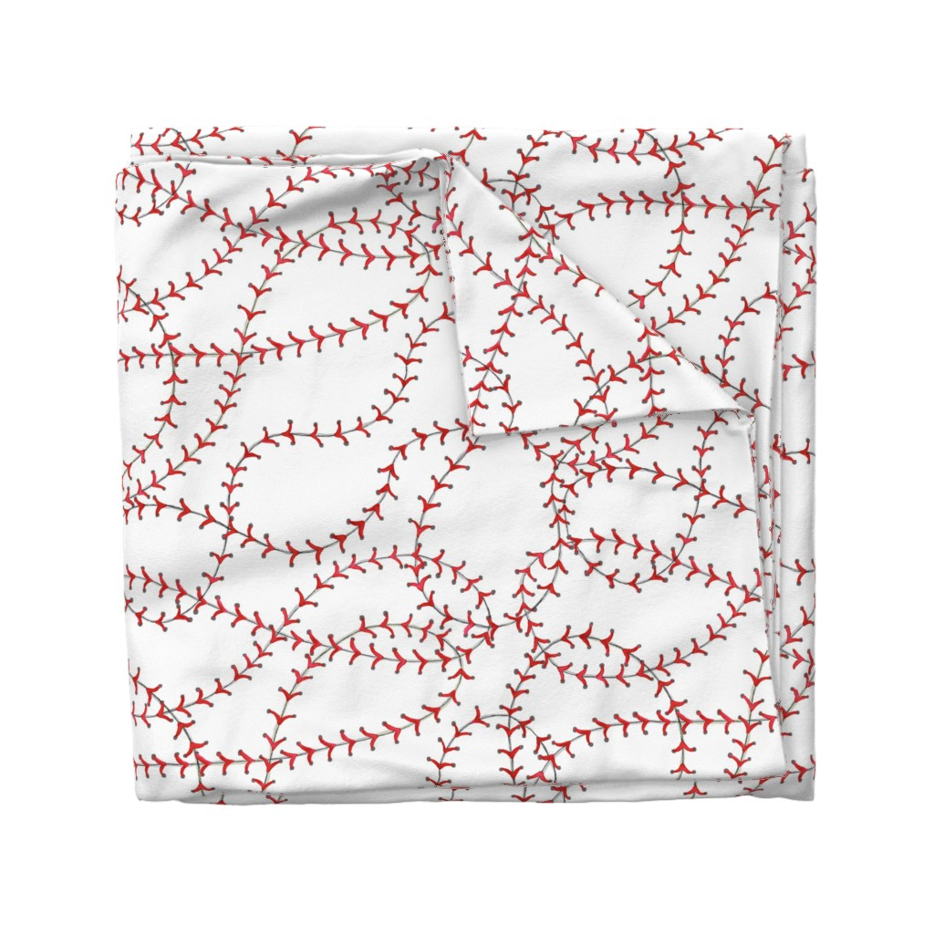 Wyandotte Duvet Cover featuring Baseball Seams by c_manning