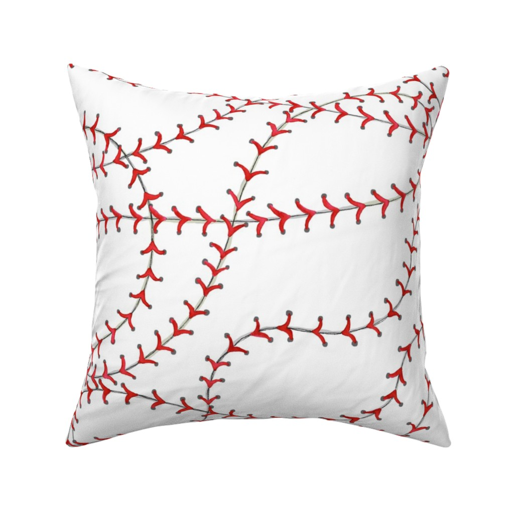 Catalan Throw Pillow featuring Baseball Seams by c_manning