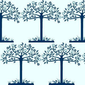 Spring Blue Trees