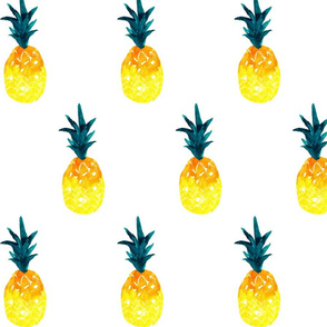 watercolor pineapple summer