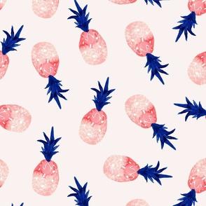 watercolor pineapple summer_pink natural watercolor