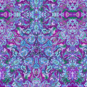 Purple Green Blue Kaleidoscope 15In 150-2