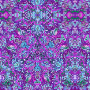 Purple Green Blue Kaleidoscope 15In 150-3