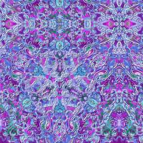 Purple Green Blue Kaleidoscope 15In 150-4