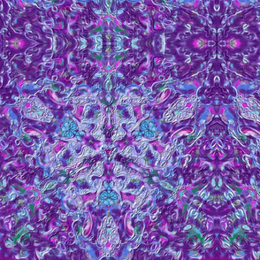 Purple Green Blue Kaleidoscope 15In 150-6