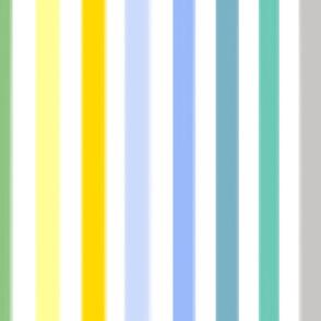 Freshly Squeezed Lemonade Stripes - Vertical