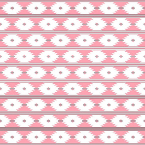 aztec_white_on_coral_with_black_stripes_2inch