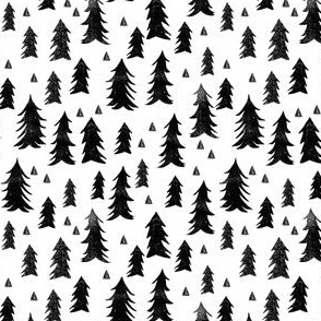 Trees - White and Black (Tiny Version) by Andrea Lauren