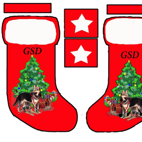 GSD cut and sew Christmas stocking