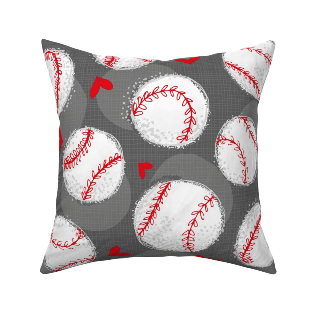 Catalan Throw Pillow featuring Baseball Lovers Unite! Large Scale by pinky_wittingslow