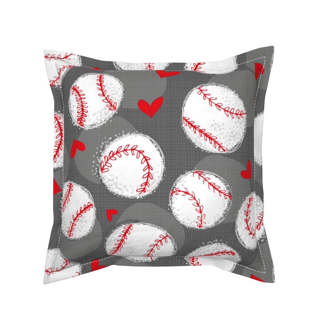 Serama Throw Pillow featuring Baseball Lovers Unite! Large Scale by pinky_wittingslow