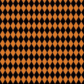 Harlequin Diamonds ~ Black And Pumpkin Spice ~ Wee
