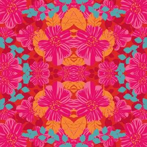 Smoldering Rosy Blooms