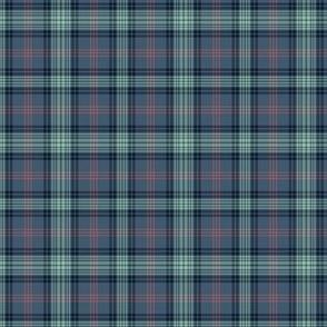 "Ross Hunting tartan - blue variant, 3"" (1/4 scale)"