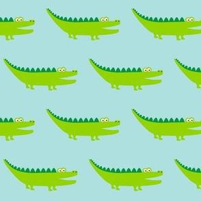 Friendly Crocodile Lightblue