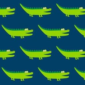 Friendly Crocodile Darkblue