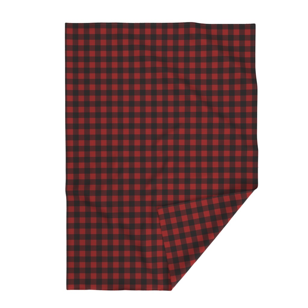 Lakenvelder Throw Blanket featuring Buffalo Plaid Red by portage_and_main